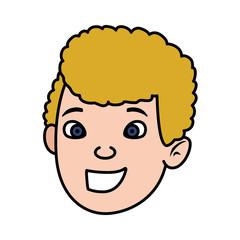 cute little boy head character