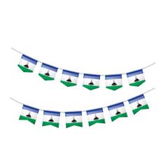 Lesotho flag, vector illustration on a white background