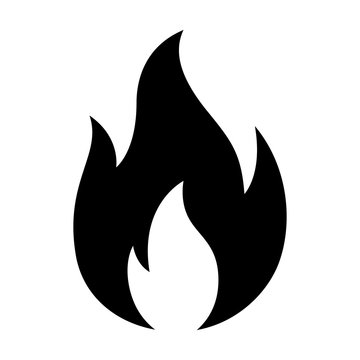 Hot fire / flame heat or spicy food symbol flat vector icon for apps and websites