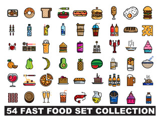 54 fast food set collection