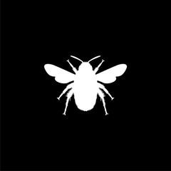 Bumble bee icon or logo on dark background