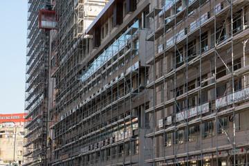 Building facade under construction