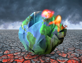 Global warming concept 3D illustration