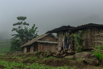 traditional vietnamese house in sapa valley vietnam