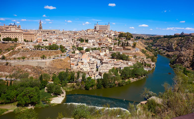 Toledo skyline in Castile La Mancha Spain