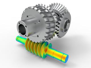 3D render - gear analysis