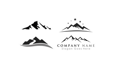 template set mountain vector
