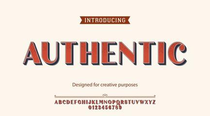 Authentic typeface.For creative purposes