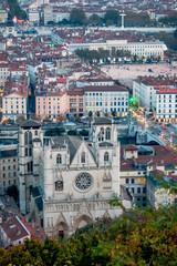 Vue du Vieux Lyon vu depuis Fourvière