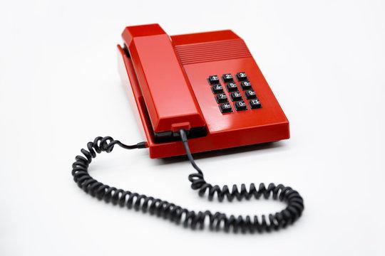 Telefono fijo de sobremesa de los años 80 en España