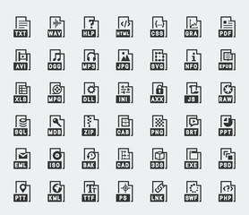 File format vector icons