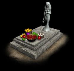 monument, altar, 3d visualization, illustration