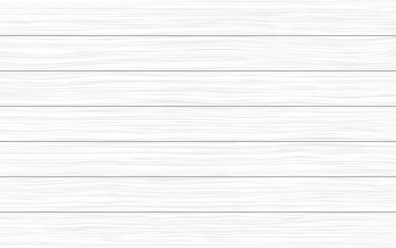 White wood planks vector texture background
