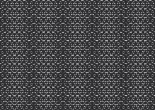 Seamless vector pattern of european '6 in 1' chain mail over dark background