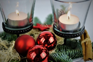 An Image of a Christmas, candle, church