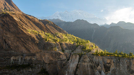 Beautiful landscape view from Pakistan country near Gilgit city at day time.