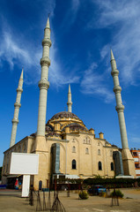 Mosque with four minarets in Manavgat city, Turkey