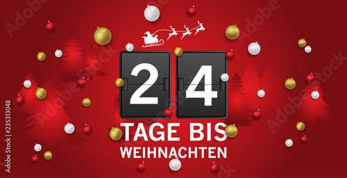 Tage Bis Weihnachten.24 Tage Bis Weihnachten Stockfotos Und Lizenzfreie Bilder