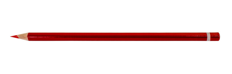 Red pencil isolated on white background