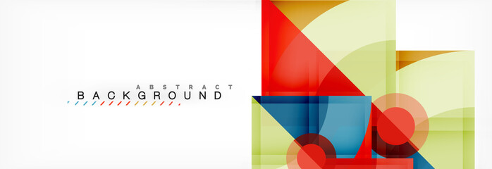 Modern geometric abstract background