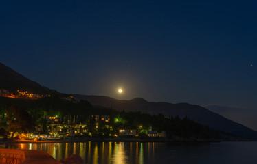 Beautiful Croatia in night Long Exposure