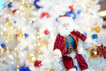 Santa claus, Christmas and New year decoration.