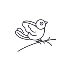 Bullfinch line icon concept. Bullfinch vector linear illustration, sign, symbol