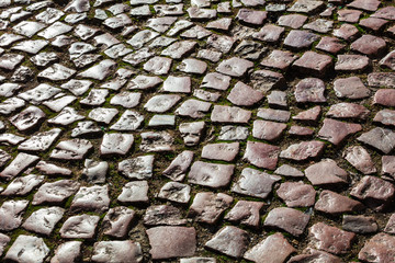 pavement from beautiful stones as background