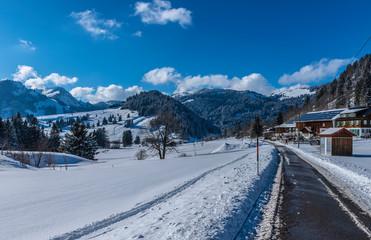 Unterjoch Schnee und Sonnenschein