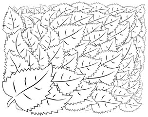Pattern for coloring book. Ethnic, floral, retro, doodle, tribal design element. Black and white background.