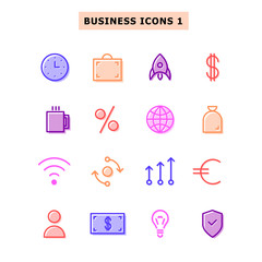Set icons business