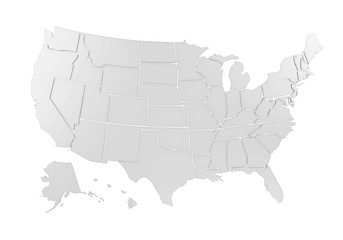 United States of America Map Isolated