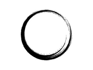 Grunge paint circle.Grunge oval shape made for your project.Black paint circle made for logo design.