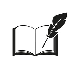 A book and a pen feather icons