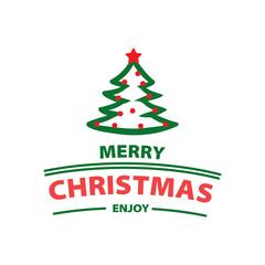 Merry Christmas hand written lettering