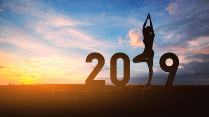 New year 2019 yoga