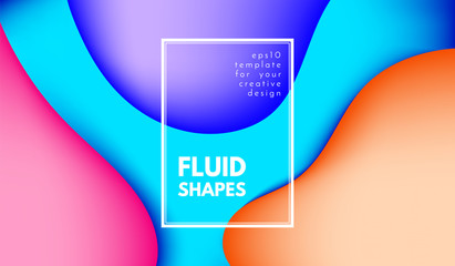Abstract Colorful Shapes with 3d Effect.