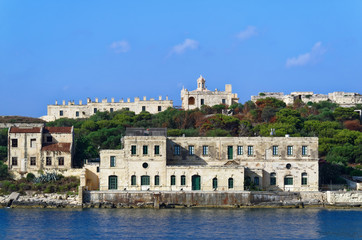 Former hospital of Manoel fort. Manoel island between Sliema and Valletta on Malta