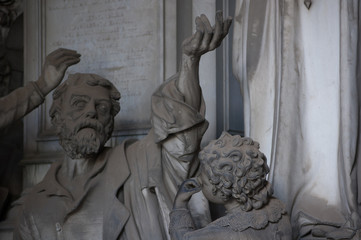 old funeral statues