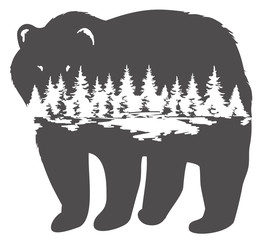 Vector Illustration of a Bear