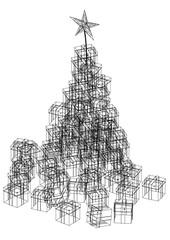 Christmas Gift Blueprint - isolated