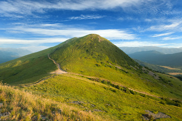 Fototapeta Bieszczady mountains - Poland, Tarnica hill obraz