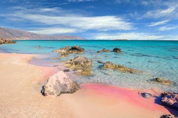 Famous Elafonisi beach on Greece island Crete