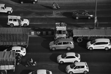 Monochromatic traffic image