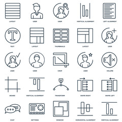 Set Of 25 Universal Editable Icons. Includes Elements Such As Ve