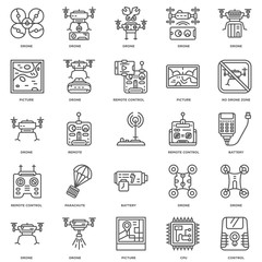 Simple Set of 25 Vector Line Icon. Contains such Icons as contro