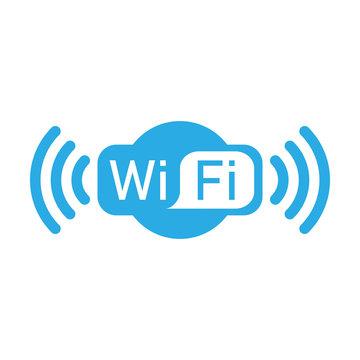 Wifi logo icon. Vector illustration, flat design.