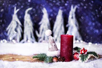 Advent Kerze frei wählbar