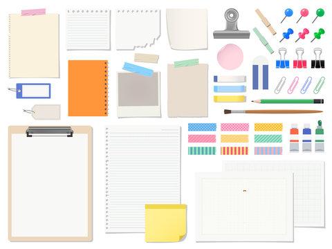紙と文具のセット