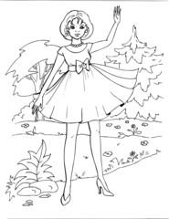 Coloring the Beautiful Princess 16